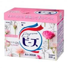 "KAO Порошок д/стирки ""Fragrance beads"" аромат розы и ландыша короб 800гр"
