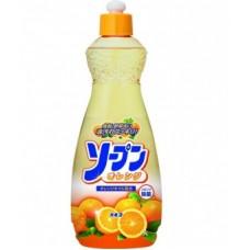 Средство KANEYO для мытья посуды, фруктов и овощей аромат апельсин бутылка 600мл