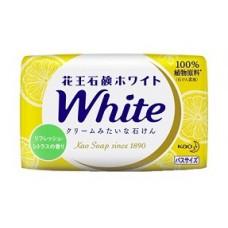 Мыло для рук KAO твердое PureWhip аромат цитрусовый кусковое (желтое) 130гр