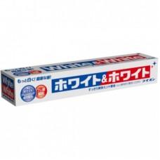 Зубная паста LION White&White отбеливание мята с кальцием и фтором туба 150 гр