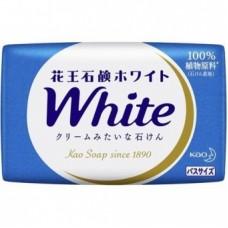 Мыло для рук KAO твердое PureWhip аромат белых цветов кусковое (синее) 130гр