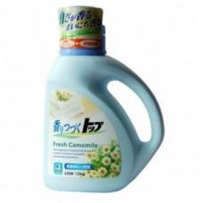 Жидкое средство для стирки LION ТОР-ромашковая свежесть аромат ромашки для белого и цветного ручной и машинной стирки всех видов тканей 900 г бутылка