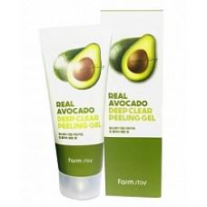 Пилинг-гель с экстрактом авокадо FarmStay Real