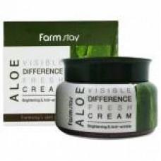 FarmStay Освежающий крем с экстрактом алоэ Aloe Visible Difference Fresh Cream, 100 мл