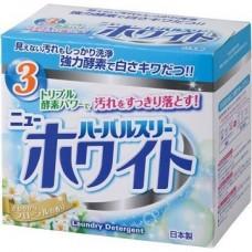 Стиральный порошок с ферментами и отбеливателем Mitsuei Herbal Three