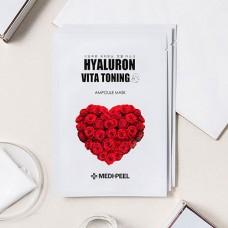 Medi-peel Hyaluron Vita Toning Mask Ампульная тканевая маска с пептидами и экстрактом розы
