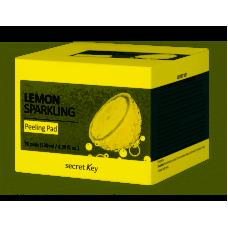 Ватные диски для пилинга с экстрактом лимона и салициловой кислотой Lemon Sparkling Peeling Pad, Secret Key 70 шт.