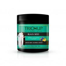 Trichup Hair Mask BLACK SEED Hot Oil Treatment, Vasu ( Маска для волос ЧЕРНЫЕ СЕМЕНА, Питание и защита, Обогащена Лимоном и Солодкой, Васу), ЧЕРНАЯ БАНКА 500 мл.