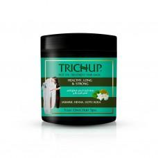 Trichup Hair Mask HEALTHY, LONG & STRONG Hot Oil Treatment, Vasu ( Маска для волос ЗДОРОВЫЕ ДЛИННЫЕ И СИЛЬНЫЕ, Обогащена Готуколой, Хной и Жасмином), ЧЕРНАЯ БАНКА 500 мл.